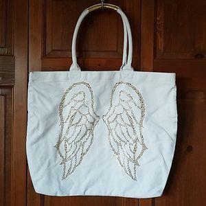 Victoria's Secret Gold Angel Wing Tote Bag